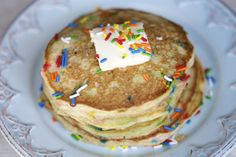 The Best Cinnamon Funfetti Pancakes