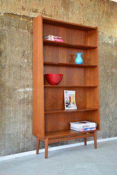 60er BORNHOLM Teak REGAL Standregal Highboard DANISH DESIGN 60s teakwood shelf