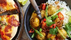 Serve tender pork and veal meatballs in Thai-style yellow curry for a hearty family meal. Mince Recipes, Curry Recipes, Asian Recipes, Beef Recipes, Cooking Recipes, Healthy Recipes, Ethnic Recipes, Savoury Recipes, Dumplings