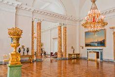 Splendid interiors of Alexander Palace in Tsarskoye Selo (Pushkin), south of St Petersburg, Russia