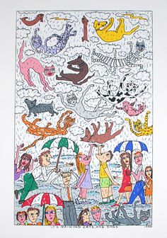 James Rizzi: Its Raining Cats And Dogs