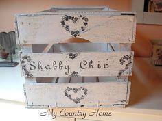 MY COUNTRY HOME: Cassetta shabby- asciuga gessi