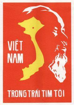 Vietnam in My Heart Poster Ww2 Posters, Political Posters, Travel Posters, Protest Posters, Communist Propaganda, Propaganda Art, Vietnam Protests, Vietnam War, Heart Poster