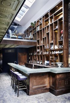 Bar from private member's club Library in London.