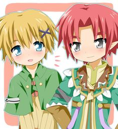 Doug and Kiel from rune factory 4 Trio Of Towns, Rune Factory 4, 4 Story, Cute Characters, Fictional Characters, Perfect Game, Harvest Moon, Great Stories, Skyrim
