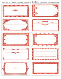 These vintage framed labels by Cathe Holden of Justsomethingimade.com are FREE to download. Printibles are in PDF editable templates. Several colors