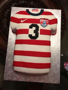 Make a cake crafted after your favorite jersey!