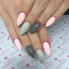 Martini&Bikini Gel Polish, Mrs Grey Gel Brush, Karate Girl Gel Brush by Madzia, Madelaine Studio, Indigo Wroclaw #nails #nail #pastel #pink #grey #hot #trendy #indigo #autumn #cold