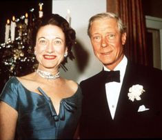 Wallis & Edward, the Duke and Duchess of Windsor...their marriage will always be described in terms of his abdicating the thrown of England for the woman he loved. They remained married for 34 years until his death in 1972.