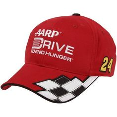 NASCAR Checkered Flag Jeff Gordon AARP Checkered Adjustable Hat - Red by Football Fanatics. $21.95. Checkered Flag Jeff Gordon AARP Checkered Adjustable Hat - RedQuality embroideryOfficially licensed Jeff Gordon hatImportedAdjustable hook and loop fastener strapStructured fitStructured fitAdjustable hook and loop fastener strapQuality embroideryImportedOfficially licensed Jeff Gordon hat