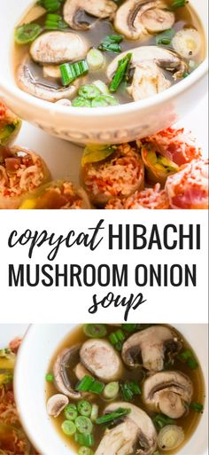 Copycat Hibachi Mushroom Onion Soup Recipe – Low Carb Copycat Hibachi Pilz Zwiebelsuppe Rezept Related posts: No related posts. Onion Soup Recipes, Mushroom Soup Recipes, Asian Onion Soup Recipe, Recipe With Onion, Healthy Mushroom Soup, Japanese Clear Onion Soup Recipe, Mushroom Food, Mushrooms, Gourmet