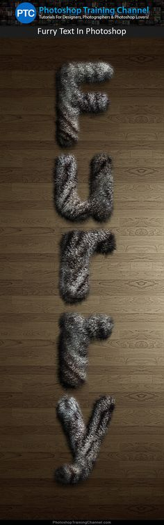 Create a realistic furry text effect in Photoshop! Try it out now!