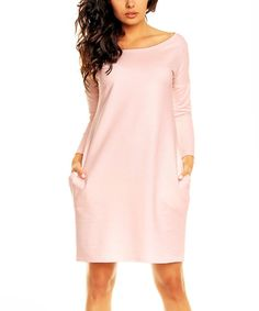 Pink Scoop Neck Dress by Nommo