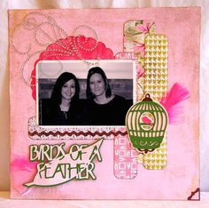 Elegant Christmas Scrapbook Layout | of Fishing for Scraps used Straight from the Nest to create an elegant ...