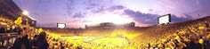Panorama of the all yellow Big House!