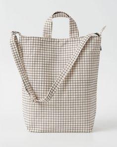 Duck Bag - Natural Grid. Canvas Shopper BagCanvas Tote BagsCanvas ... 45f7dba790e1b