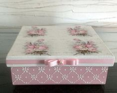 Box decorated mdf - roses1