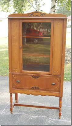 lily field furniture: Antique Glass Cabinet