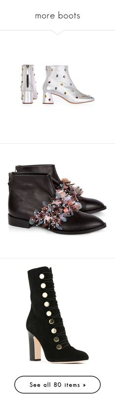 """""""more boots"""" by loves-elephants ❤ liked on Polyvore featuring shoes, boots, ankle booties, topshop booties, mid heel booties, real leather boots, leather bootie, leather ankle boots, scarpe and black leather boots"""