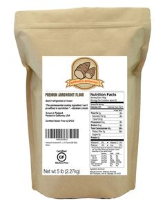 Anthony's Arrowroot Powder (Flour) – Anthony's Goods - Arrowroot is the perfect replacement for wheat and corn based flours. Due to it's pure starch nature, Arrowroot thickens at a lower temperature than cornstarch or conventional flour. This causes Arrowroot Flour to have a more neutral taste and very smooth consistency