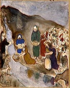 Moses and the Striking Rock - Marc Chagall