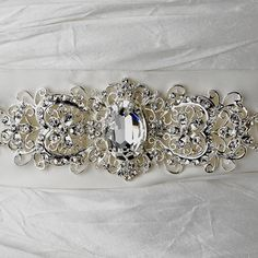 gorgeous wedding belt! We make belts for wedding dresses all.