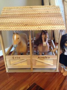 Caleb could make this for the girls. American Girl Doll Horse, American Girl Crafts, American Girls, Doll Crafts, Diy Doll, Ag Dolls, Girl Dolls, American Girl Furniture, Baby Kind