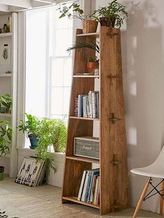 Use laminated pine shelving to make this wooden bookcase / display shelf. The unit assembles easily and can be taken apart in a jiffy.