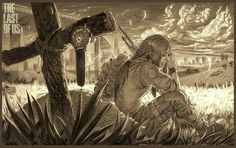 Image via We Heart It #artdraw #deviantart #game #Joel #rip #ellie #thelastofus