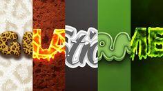 5 Photoshop Professional text effects / 5 efectos profesionales de texto para Photoshop