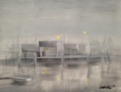 Nantucket Fog Night Painting