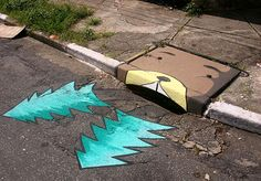 The street art in Brazil is continuing to amuse people Brazil Culture, Street Art, Street Painting, Spray Paint Art, Sidewalk Art, Illusion Art, Country Artists, Illusions, Cool Art