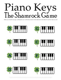 Music Theory Worksheets for St Patrick's Day