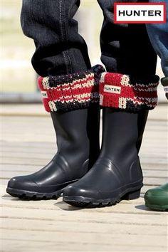 Union Jack welly socks