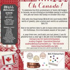 Join my team on October 15th and receive an addtional $161.70 in free product when you sign up with the Small Social Kit. E-mail me for more information on the fabulous anniversary special! audrey@itsacharmedlife.ca #shdcharmedlife #wahm #freestuff
