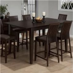 Amazon.com - Jofran Counter Height Rectangle Dining Table in Ryder Ash - Dining Room Furniture Sets