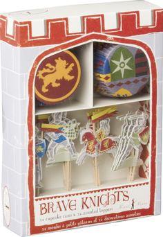 Amazon.com: Meri Meri Knights Cupcake Kit -: Childrens Party Supplies: Kitchen & Dining
