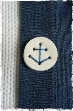 make your own buttons from polymer clay that can be stitched in place with an anchor.