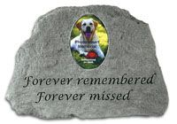 Forever Remembered Forever Missed Picture Insert Memorial Stone