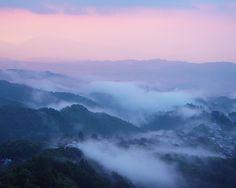 吉野山 雲海 夕焼け : 魅せられて大和路
