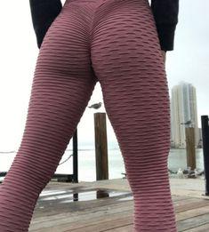 f504a154fa62c Colorful Ribbed Folded Fabric Women's Yoga Pants Leggings