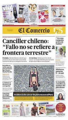 "¡Buenos días! Hoy en #NuestraPortada: Canciller chileno: ""Fallo no se refiere a frontera terrestre"""