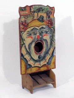 An unusual early 20thC fairground ball game #antique