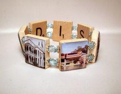 DISNEYLAND Bracelet / DISNEY JEWELRY / Upcycled / by pawsintime, $18.00