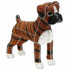 Brindle Boxer - Hand sculpted & beaded