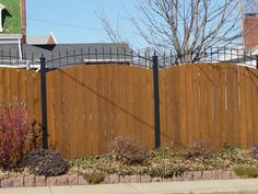 Cedar Fence, Wood Fences, Outdoor Projects, Outdoor Decor, Fencing Companies, Custom Wood, Wrought Iron, Tuscany, Modern Design