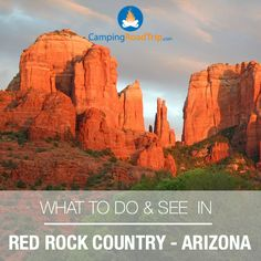 In the heart of Arizona lies the Red Rock Country. Huge awe inspiring sandstone monuments with dramatic reds & oranges!  Do some camping, RVing, sightseeing, hiking... mountain biking & horseback riding are also very popular. Road trip anyone?