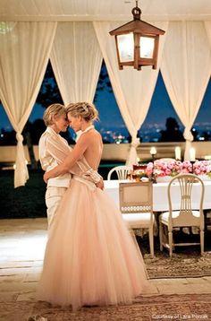 Ellen and her love. Love is love no matter which gender your partner is. <3