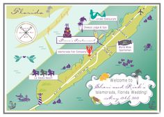 Custom Wedding Map Infographic -- Islamorada, Florida (choose your location) by cwdesigns2010 on Etsy https://www.etsy.com/listing/101535296/custom-wedding-map-infographic