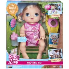 Find the Baby Alive Baby Go Bye Bye Blonde by Baby Alive at Mills Fleet Farm.  Mills has low prices and great selection on all Dolls   Stuffed Animals.